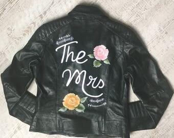 """Custom """"The Mrs"""" Leather Jacket"""