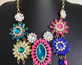 Statement necklace multicoloured