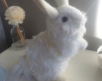 Vintage Toy, Vintage Rabbit, Hansa Bunny Rabbit Soft Toy, Hansa Bunny, White Bunny Rabbit, Rabbit Toy, Bunny Rabbit, Hansa Rabbit, Vintage