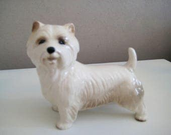 Vintage Westie, Vintage Dog Ornament, Westie, Westie Dog, Dog Ornament, Vintage Homeware, Dog Figurine, Westie Ornament, Vintage Ornament