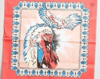 Vintage Native American Bandana eagle