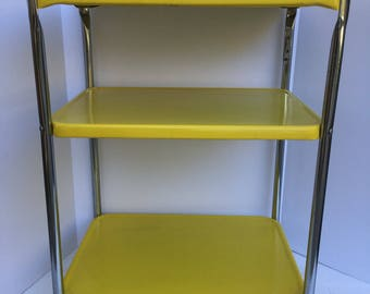 Cosco Yellow Kitchen, Bar  Wheeling Cart