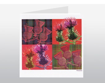 Scottish Thistles Card SC06