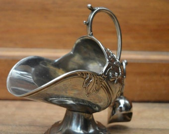 Silver plated Sugar scuttle and scoop