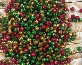 Lot of 150 Vintage 1950's Mercury Glass Christmas Beads