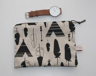 Tipi Collection, medium size pouch, clutch bag, wallet, make-up bag