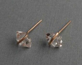herkimer diamond style quartz earrings