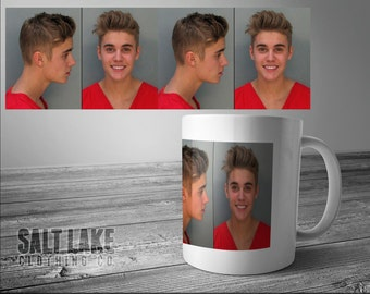 Justin Bieber Mugshot 11 oz Coffee Mug