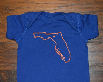 Florida Home Baby Onesie University of Florida Gators Orange and Blue