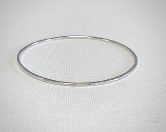 Texture Bangle Bracelet - Sterling Silver - Hammered Bangle - Stacking Bangle Bracelet