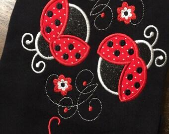 Ladybug Shirt // LadyBug Birthday Shirt // Ladybug Monogrammed Birthday Shirt // Ladybug 1st First 2nd 3rd 4th 5th 6th
