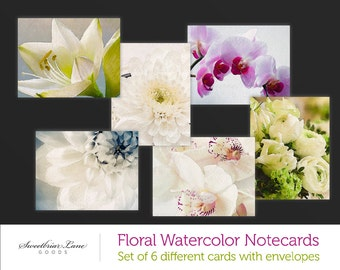 Floral Watercolor Notecards