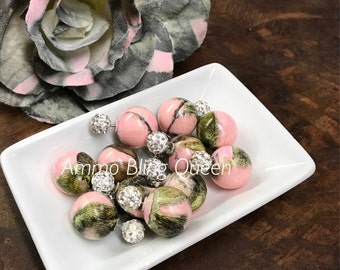Pink Camo Double Sided Bling Earrings/Pink Camo Collection