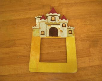 Light switch frame / surround fantasy castle design hand made
