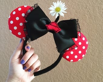 Vintage Minnie Mouse Inspired Mouse Ears