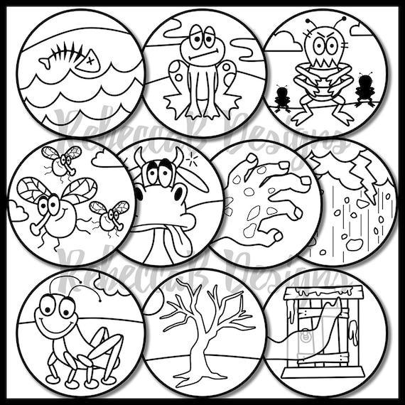 Ten plagues of egypt clip art moses ten plagues clip for Ten plagues coloring pages