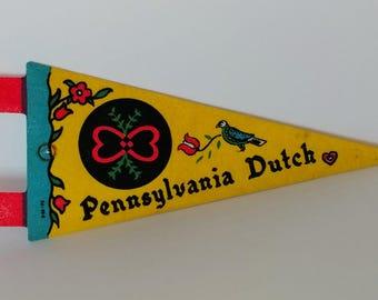 Pennsylvania Dutch - Vintage Pennant