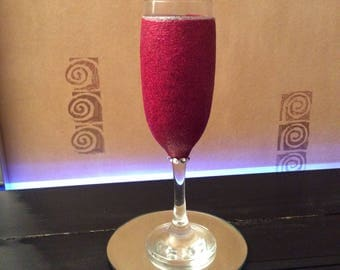 Raspberry Champagne glass