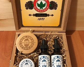 Cigar Box Beard Care Kit Beard Oil