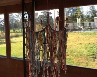 Fiber craft chandelier for 4 taper candles