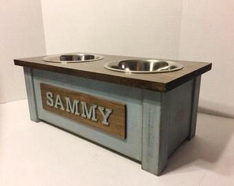 rustic wooden dog dish stand dog feeder dog bowl dog bowl