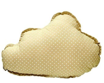 Pillow Cloud - Beige & White Dots