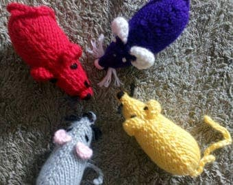 The mice are back !! Four colorfully mice , lovely toys