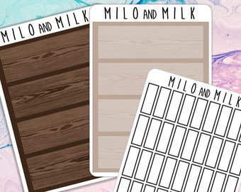Bookshelf and Book | Planner Stickers