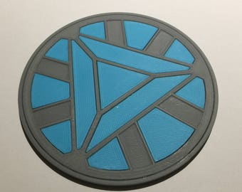 3D Printed Iron Man Mk 3 Arc Reactor Coaster / Plaque