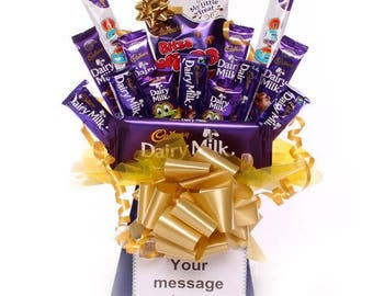 Cadbury's Chocolate Bouquet, Chocolate Bouquet, Personalised Chocolate Gift, Chocolate Gift, Birthday Gift, Get Well Gift, Thank You Gift