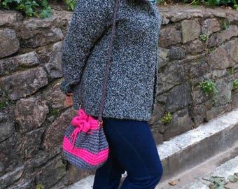 "Handbag bag shoulder bag, shoulder ""trapillo"", handmade crochet"