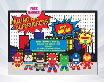 superhero invitation superhero invitation templates superhero birthday party invitation superhero party invitations - Superhero Birthday Party Invitations