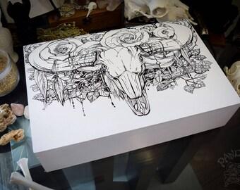Box - Bull Skull