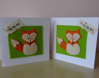 50th birthday card, fox card, wife 50th, husband 40th, girlfriend 50, man 50, woman 40th, foxy at 50, friend 50th birthday, 40 man