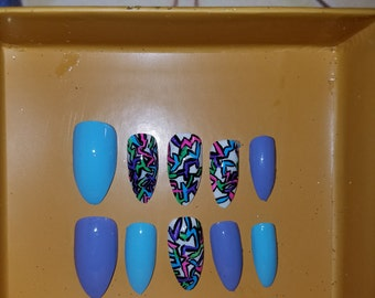 Press On Nails Kim Style''Graffiti Love''