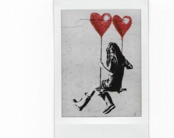 Retro JPS Street Art Polaroid Magnet