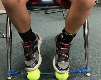Sensory Fidget for the Feet ( Black Band / Neon Balls)