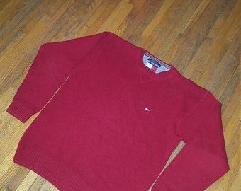 Vintage Tommy Hilfiger crew neck sweater men's size large