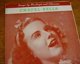 Sheet Music Chapel Bells Deanna Durbin from Mad About Music Movie Music Sheet Antique Vintage Original