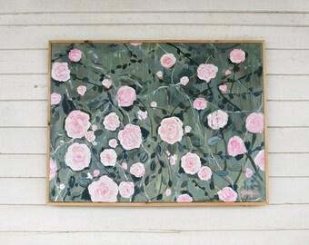 "floral painting - flowers- ""Hope"" - original painting"