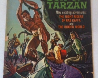 Vintage 1966 Comic Book, Korak, Son of Tarzan, Edgar Rice Burroughs, The Hidden World, The Night Riders of Ras Kaffa, Gold Key