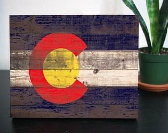 Colorado Flag, Wooden, Rustic,Wall deco, Wall Art