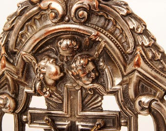 silver plated 17 th. century style ornament