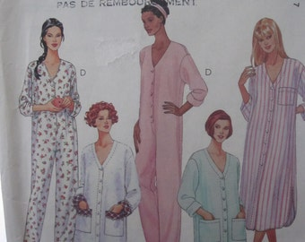 Pattern MC Calls 8525 pajamas and Nightgown for women