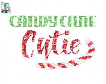 Candy Cane Cutie SVG, Christmas SVG, Candy Cane, Nice, Santa ,svg png dxf eps use with Silhouette Cameo, Cricut Air etc