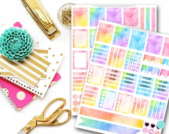 Watercolor Planner Stickers, Printable Planner Sticker, Erin Condren Planner Sticker, Planner Stickers Printable, Scrapbooking MPS5