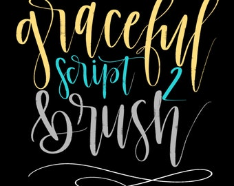 50% OFF~BUNDLE~~Graceful Script Procreate Custom Brushes