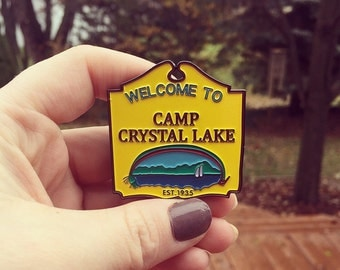 SECONDS (w/ minor flaws) Camp Crystal Lake Enamel Pin