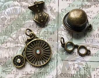 Bronze Victorian Era Charms- Lot of 4