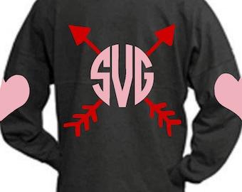 valentine arrow svg, Valentine svg, heart svg, monogram SVG, DXF, EPS, elbow patch svg, valentine's day svg, cutest valentine svg, svg arrow